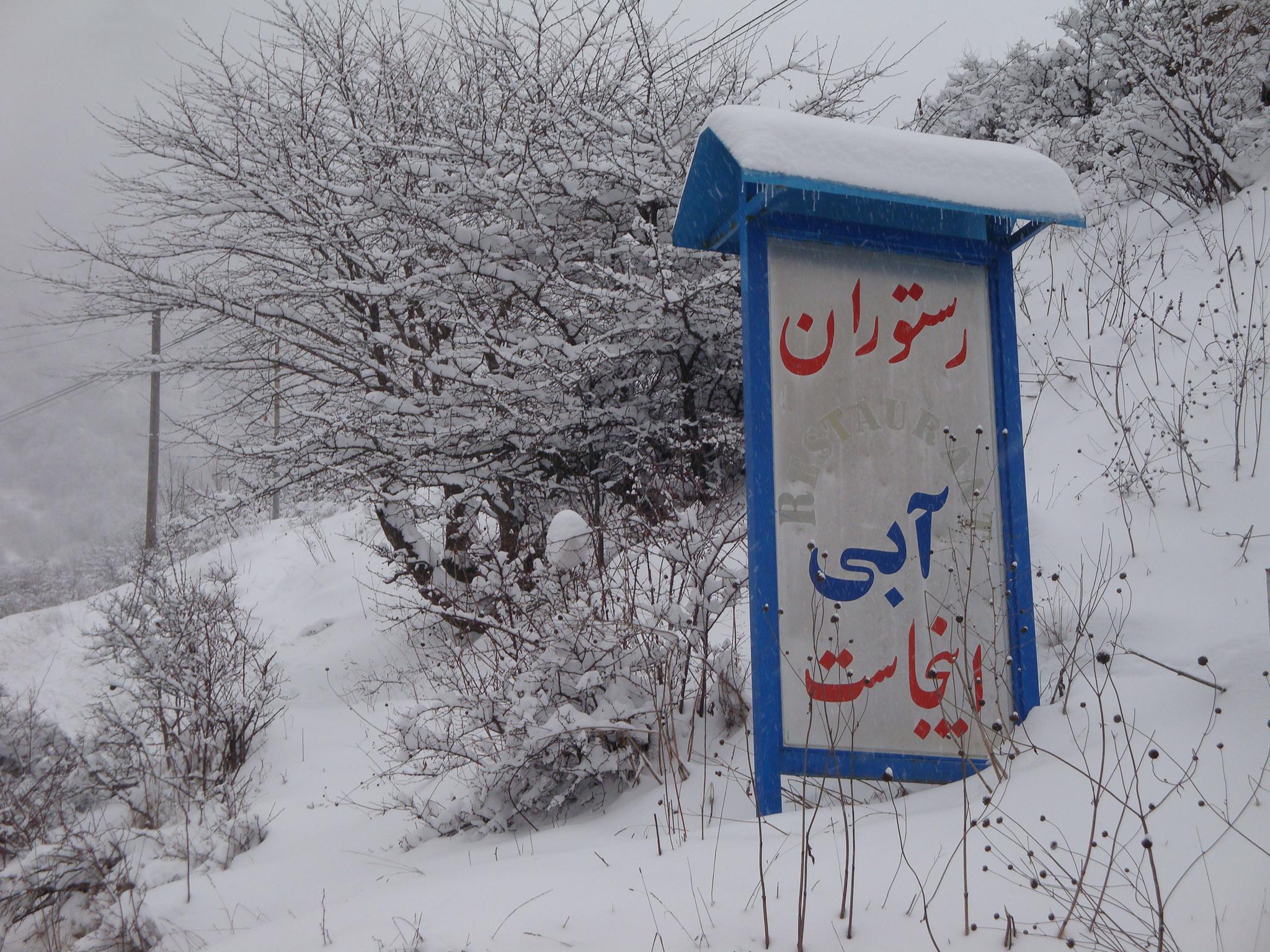 زمستان رستوران آبی